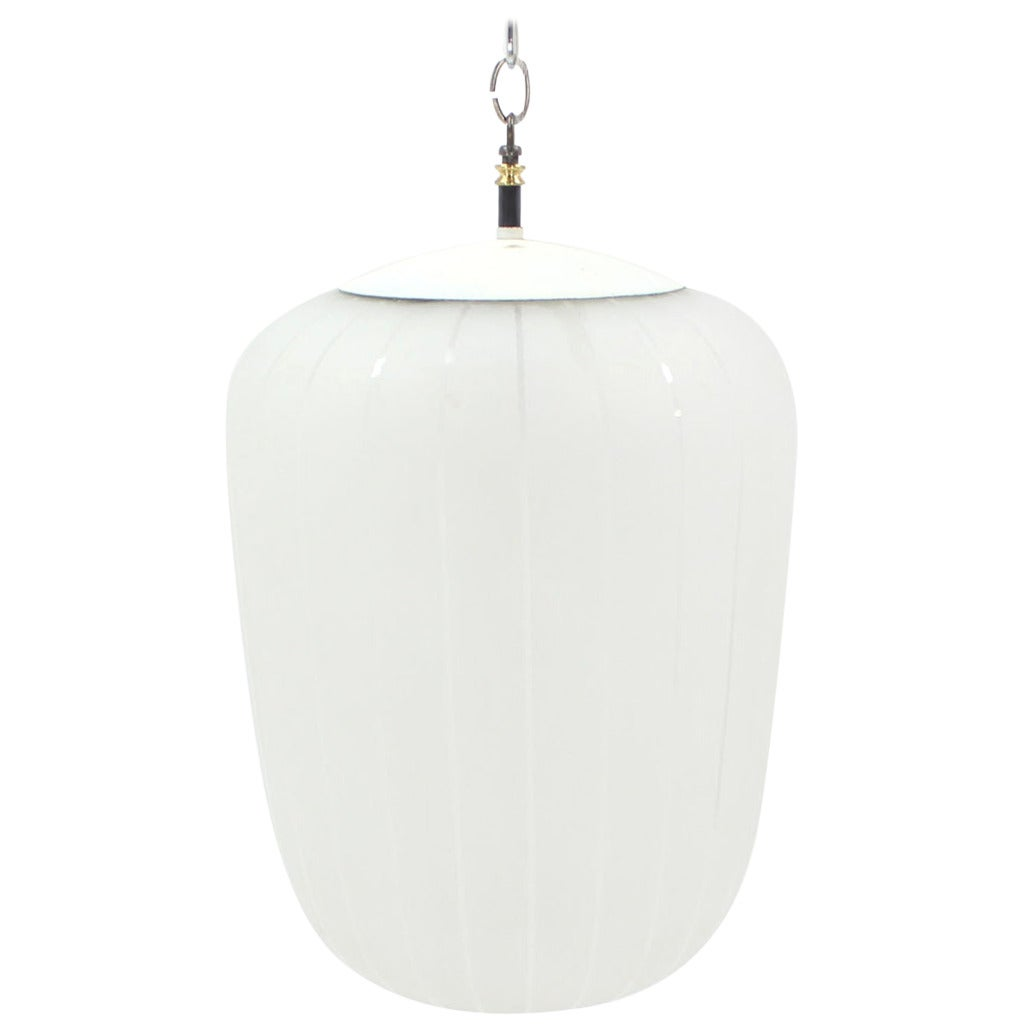 mid century modern large frosted glass pendant light for