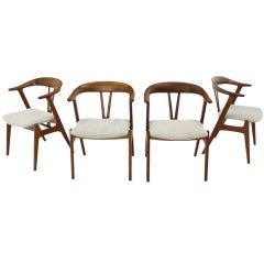 4 Georg Jensen Mid Century Danish Mid Century Modern Barrel Back Side Chairs