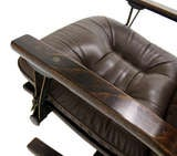 Danish Mid Century Modern Leather Recliner Lounge Chair image 6