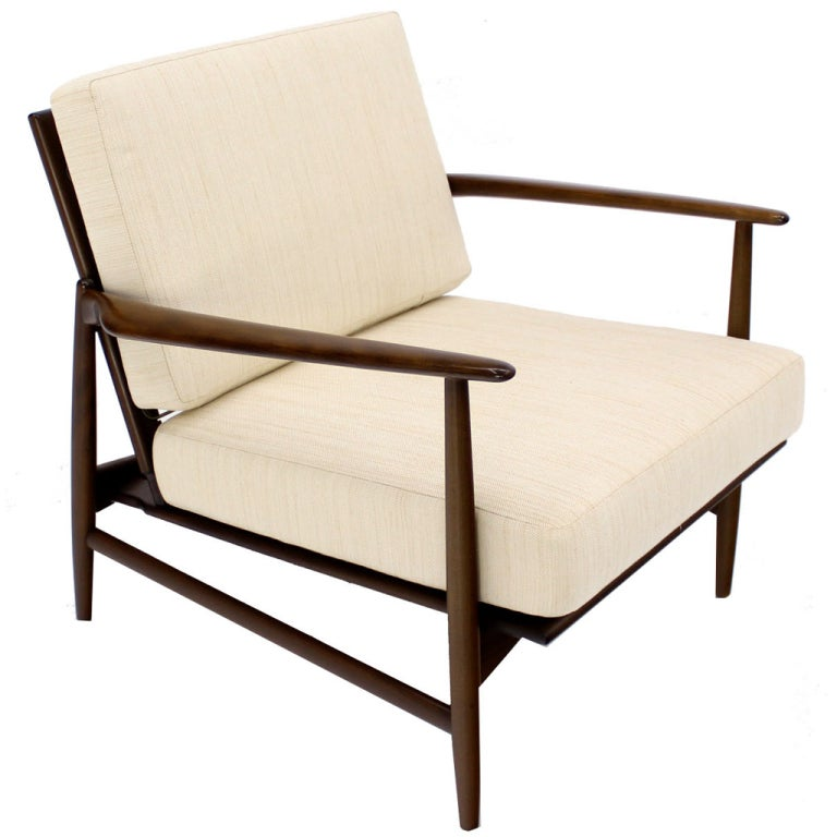 larsen lounge chair danish mid century modern lounge chair at 1stdibs