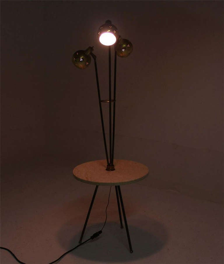 Mid century modern marble side table floor lamp at 1stdibs for Side lamp table