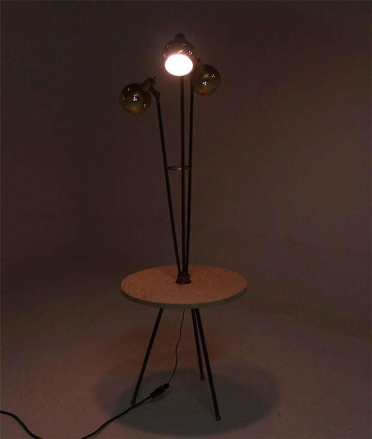 mid century modern marble side table floor lamp at 1stdibs. Black Bedroom Furniture Sets. Home Design Ideas