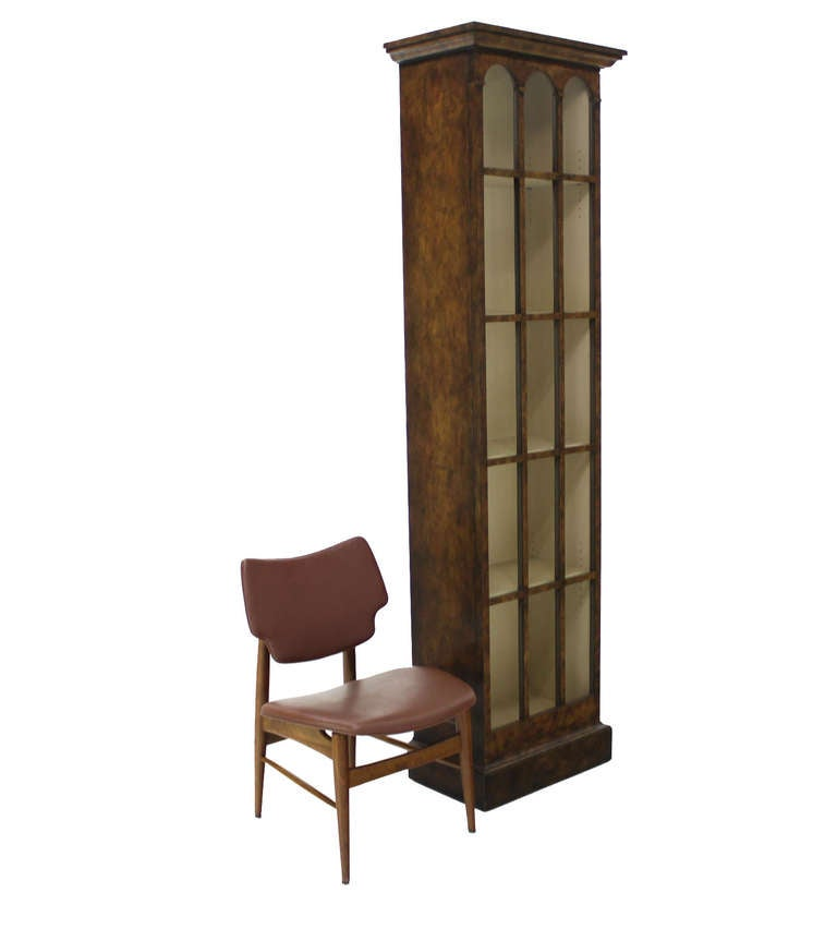 Skinny Bubble Glass Standing 7 5 Tall Bookcase Cabinet