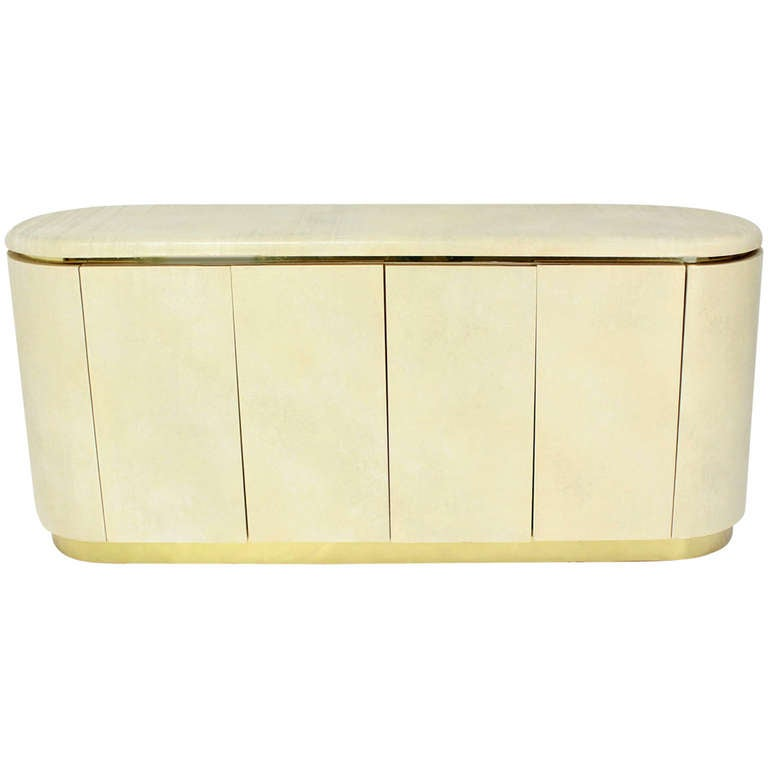 Mid-Century Modern, Drum Shape Long Credenza Server in the Springer Style