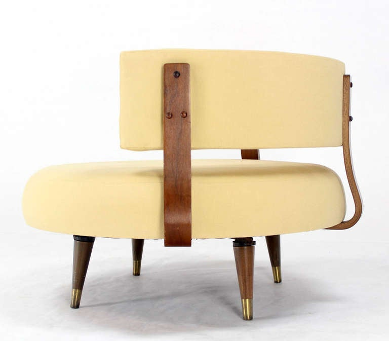 Mid Century Modern Round Swivel Lounge Chair by Adrian Pearsall at 1stdibs