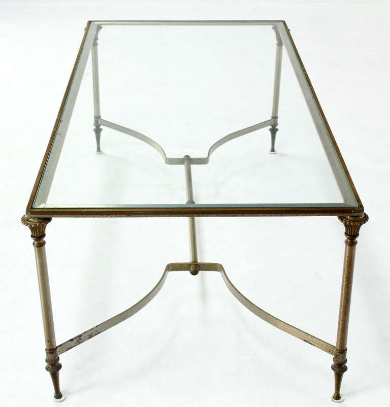 Regency Brass Coffee Table Layer Vintage Mid. Second-sun.co