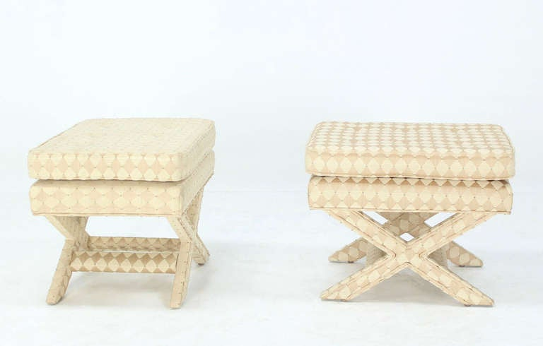Pair of Mid-Century Modern X-Base Billy Baldwin Benches 9