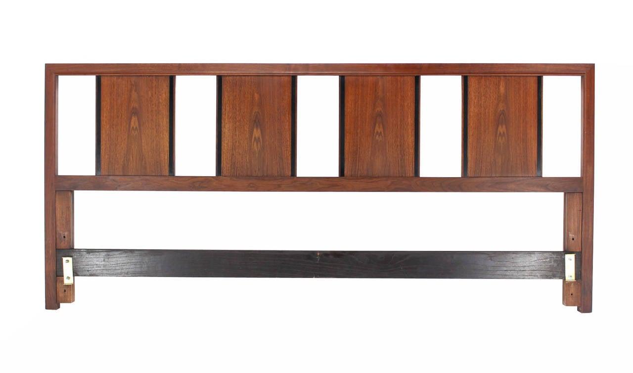 john stuart king size walnut headboard for sale at 1stdibs. Black Bedroom Furniture Sets. Home Design Ideas