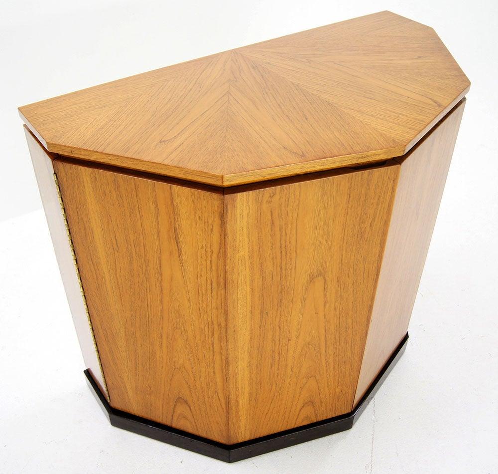 Harvey Probber Lift Top Demilune Liquor Cabinet 8