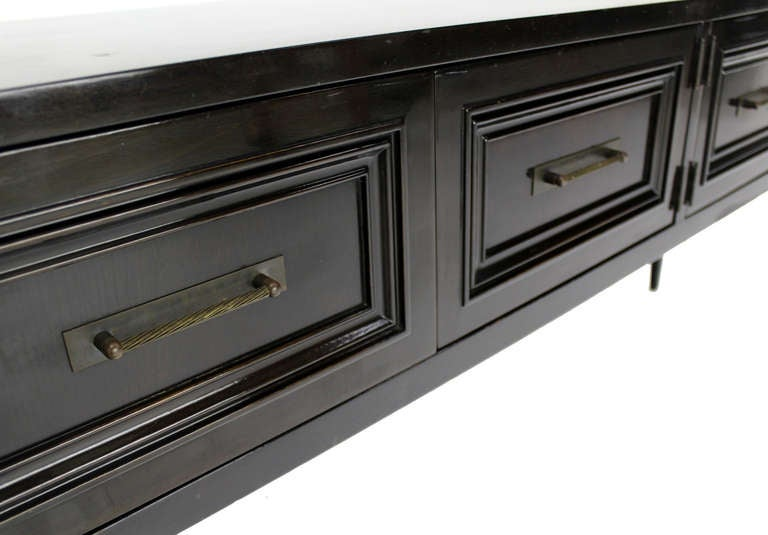 Black Lacquer Modern Console Or Dressing Table 2