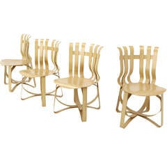 Set of 4 Mid Century Modern Dining Chairs by Frank Gehry for Knoll