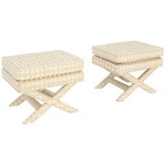 Pair of Mid-Century Modern X-Base Billy Baldwin Benches