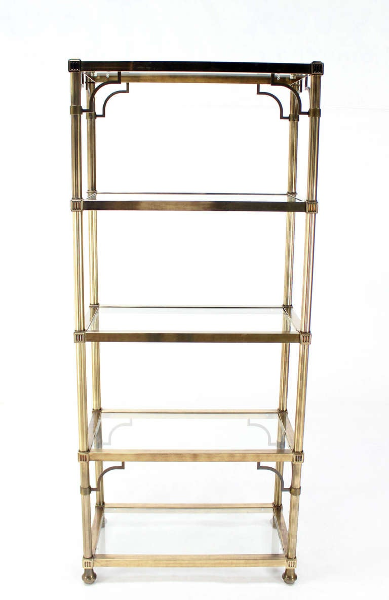 Midcentury brass finish maison jansen style five shelf etagere at 1stdibs - Etagere faite maison ...