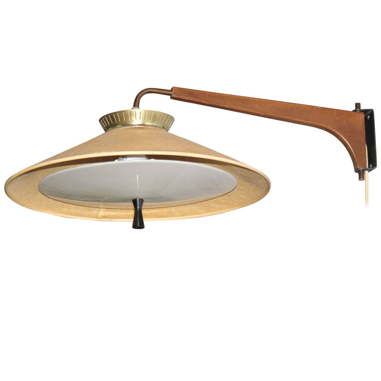Mid century danish modern fully adjustable sconce light for Danish modern light fixtures