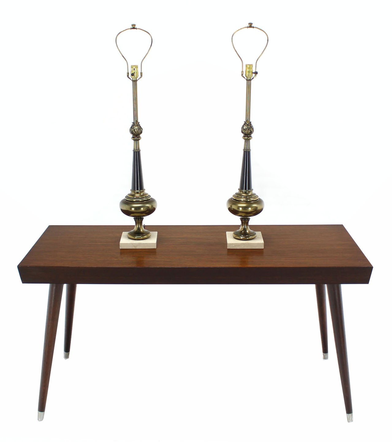 pair of stiffel modern table lamps on marble bases for sale at 1stdibs. Black Bedroom Furniture Sets. Home Design Ideas