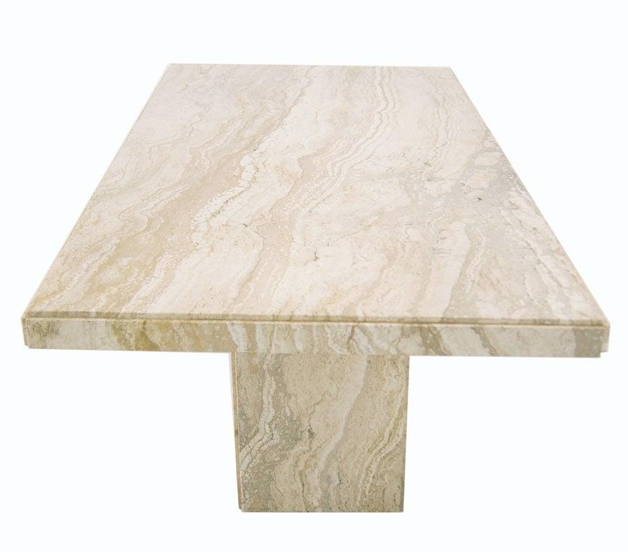 Modern Italian Marble or Travertine Pedestal Dining Table  : 883713283211962 from www.1stdibs.com size 900 x 792 jpeg 60kB
