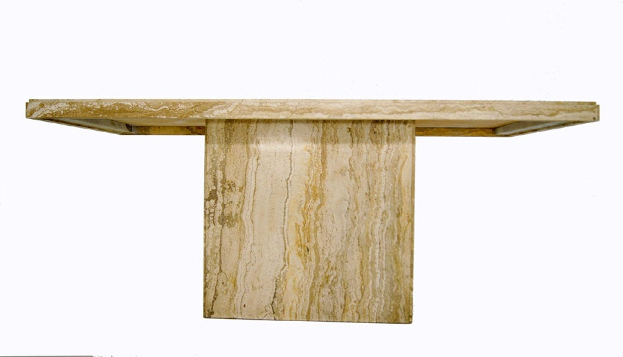 Dining tables 5 modern marble dining tables 5 modern marble dining - Modern Italian Marble Or Travertine Pedestal Dining Table