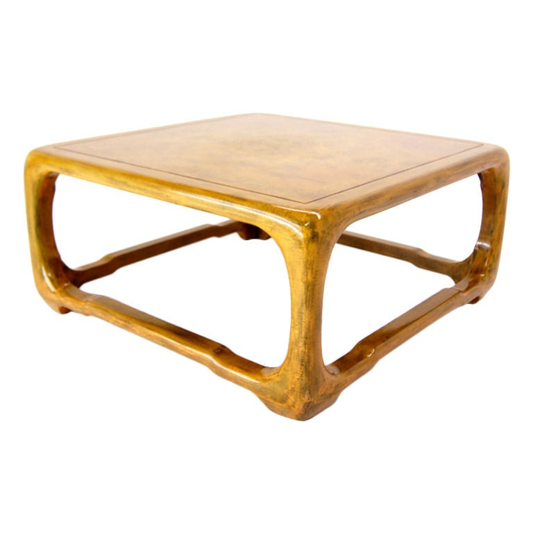 modern oraganic shape lacquered cloth coffee table springer at 1stdibs