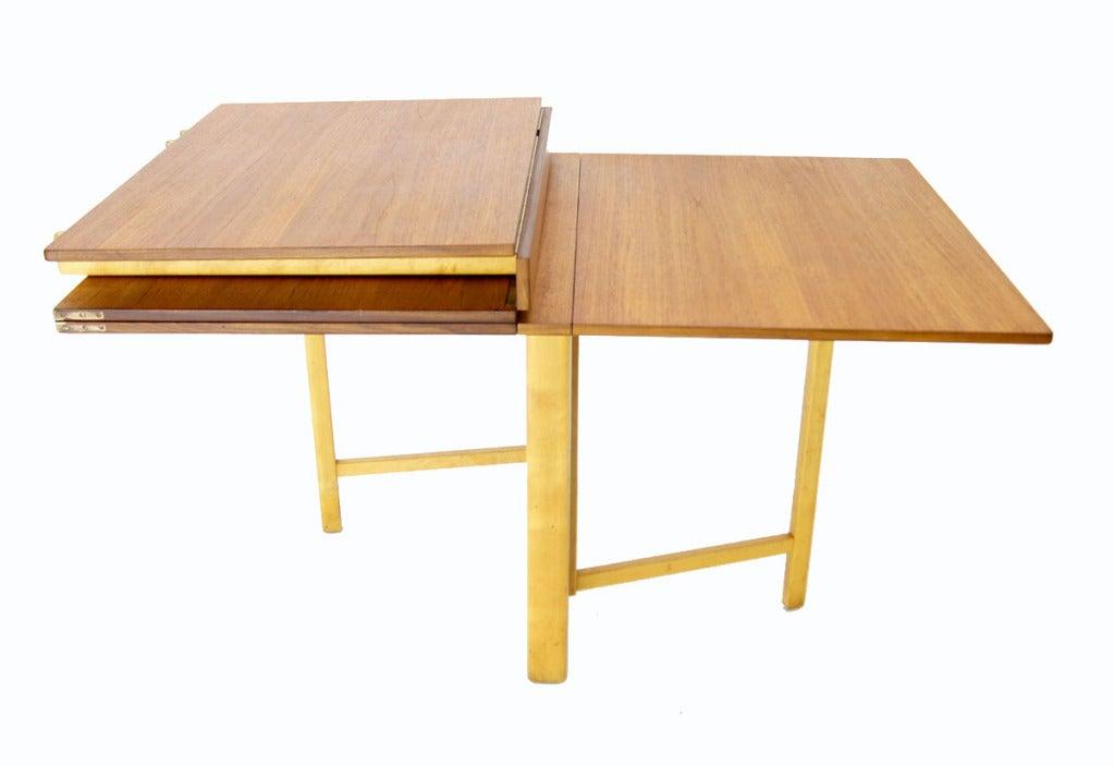 Folding Drop Leaf Dining Table Bruno Mathsson Teak