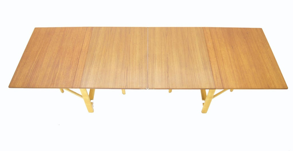 bruno mathsson teak folding banquet dining drop leaf table at 1stdibs