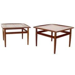 Pair of Dux Danish Mid-Century Modern Teak End Tables
