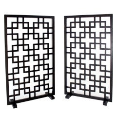 Pair of Freestanding Modern Room Divider Screens