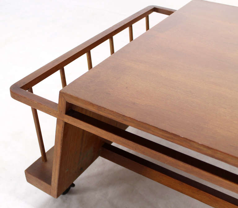 Industrial Coffee Table On Wheels At 1stdibs: Mid-Century Modern Industrial Style Coffee Table With