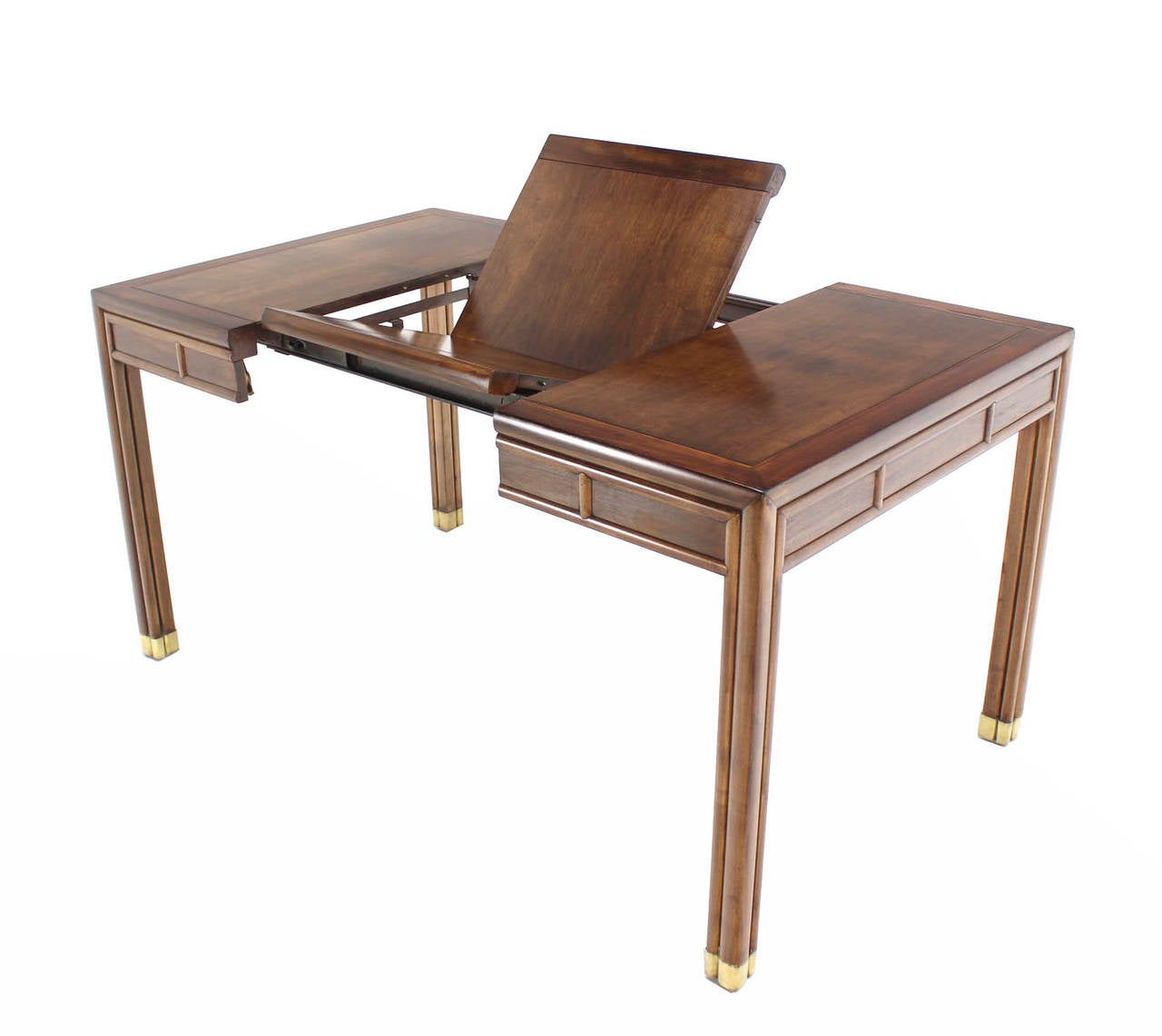 Henderson Square Dining Game Table With Built In Pop Up Leaf At 1stdibs