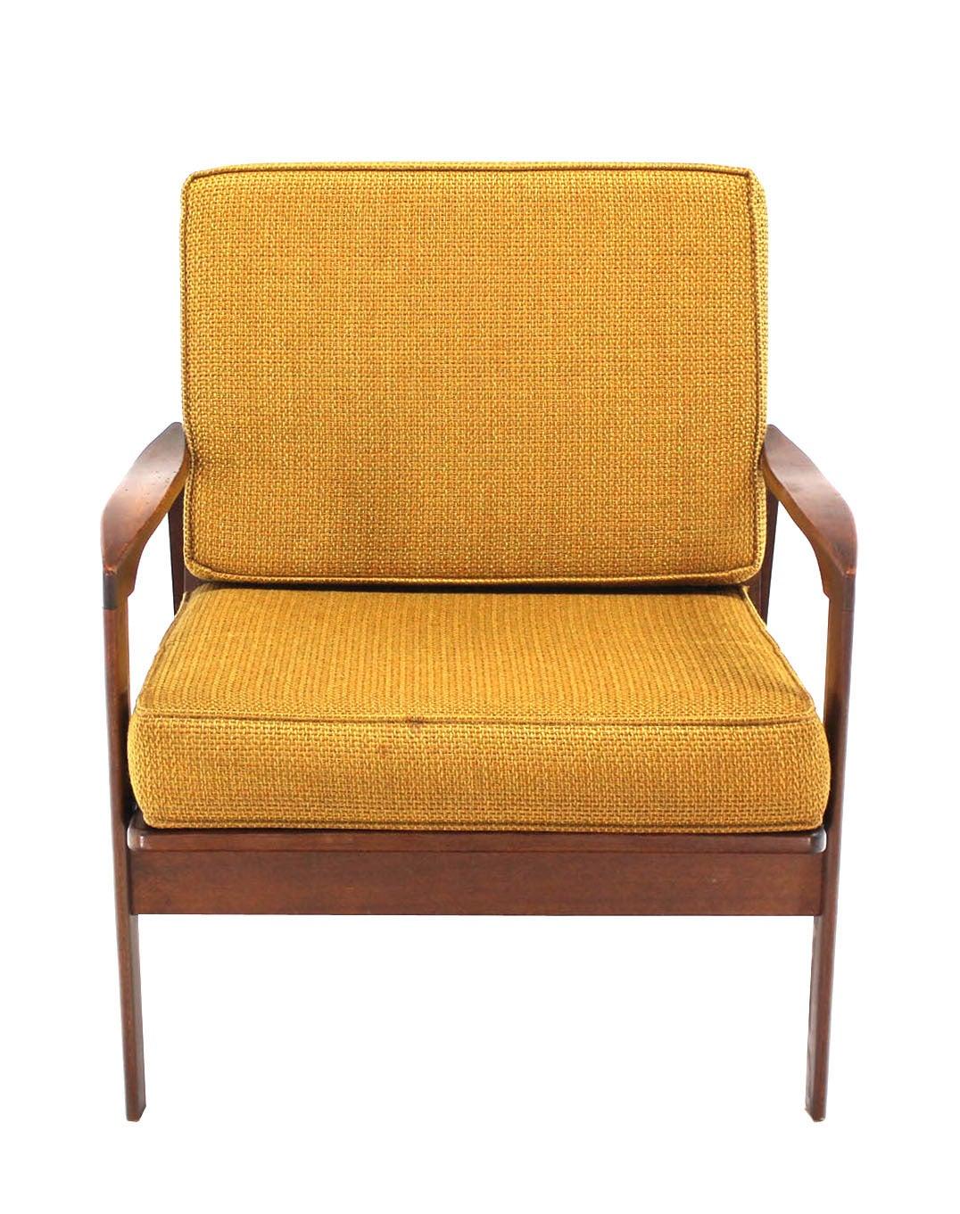 danish modern walnut armchair at 1stdibs
