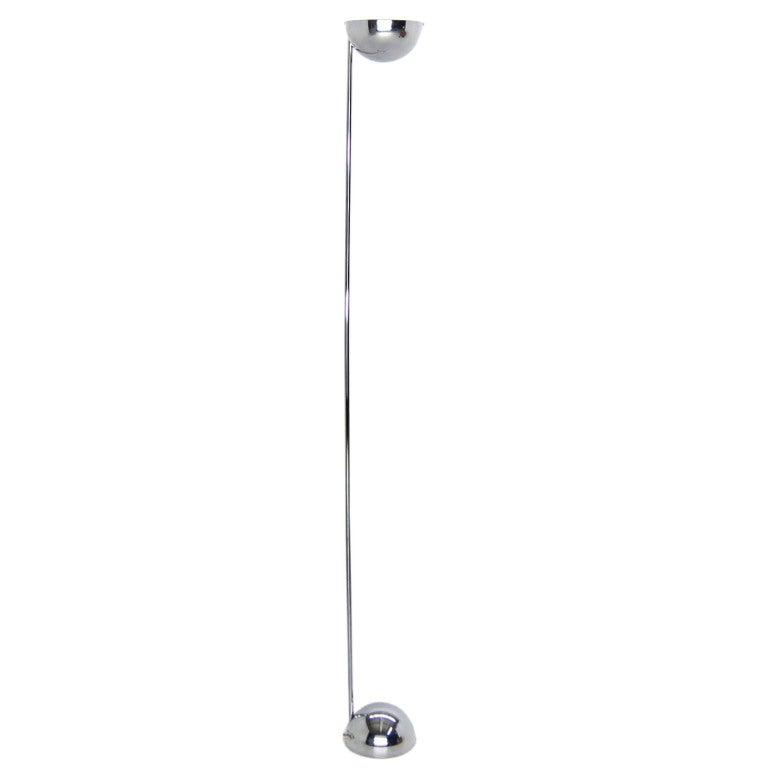 Robert Sonneman Mid Century Modern Chrome Floor Lamp Dimmer at 1stdibs