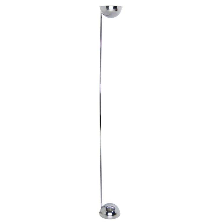 Robert Sonneman Mid-Century Modern Chrome Floor Lamp with Dimmer