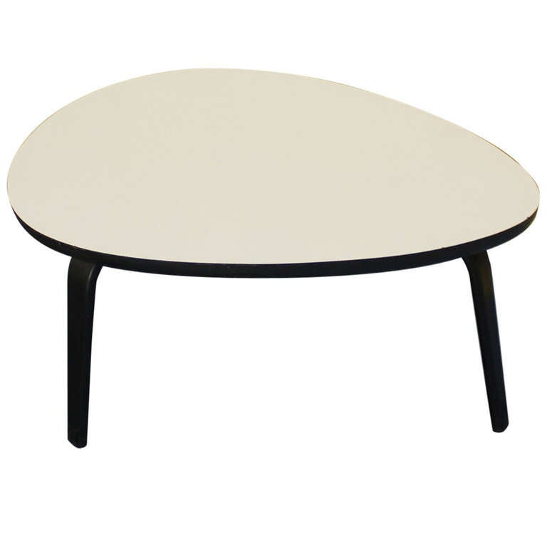 Thonet Mid Century Modern Kidney Shape Coffee Table At 1stdibs