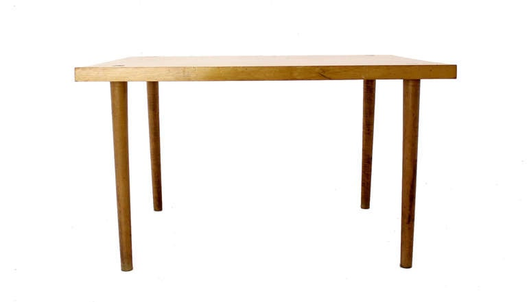 Modern Industrial Thick Butcher Block Top Work Table For Sale 3