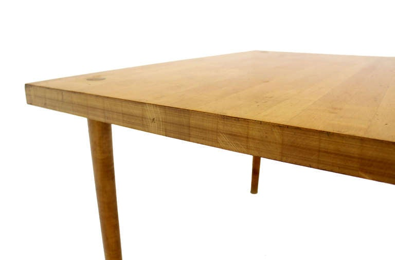 Modern Industrial Thick Butcher Block Top Work Table For