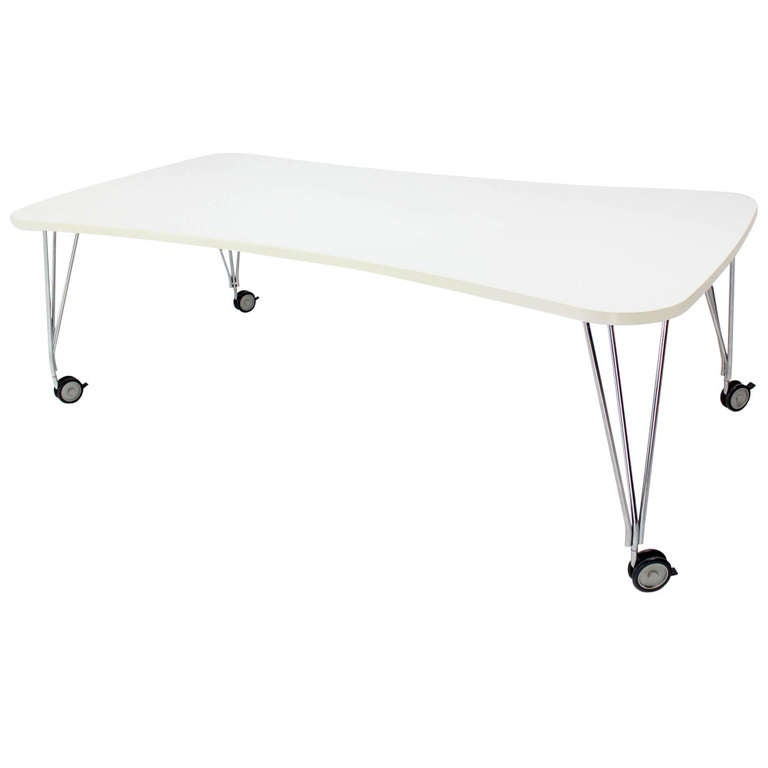 Large White Kartel Max Dining Or Conference Table On Wheels At Stdibs - Large white conference table