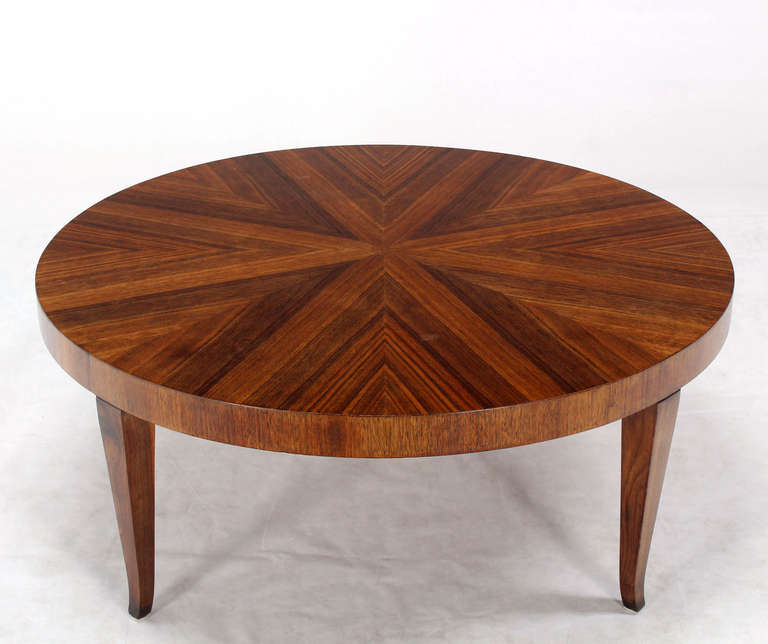 Mid Century Modern Small Round Coffee Table At 1stdibs: Round Walnut Mid-Century Modern Coffee Center Table By
