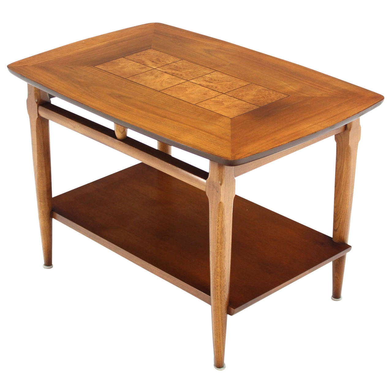 Walnut and burl wood end or side table at stdibs