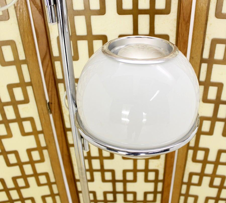 Reggiani Marble Base Fully Articulated Globe Shade Floor