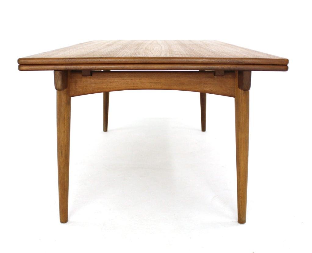 Danish Modern Teak Refractory Dining Table By H Wegner At 1stdibs