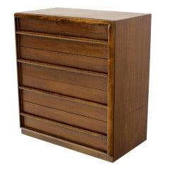 Robsjohn-Gibbings for Widdicomb Walnut High Chest or Dresser