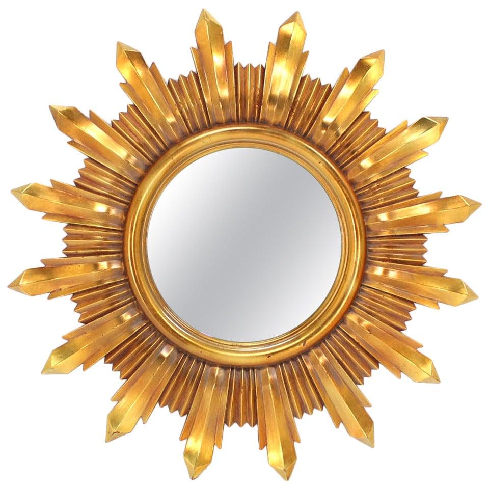 Composite sunburst mirror at 1stdibs for Sunburst mirror