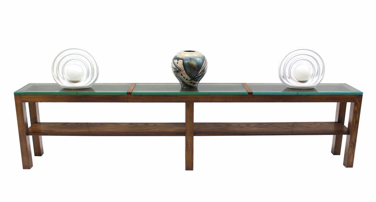 Long Console Table : Extra-Long Heavy Console Table For Sale at 1stdibs
