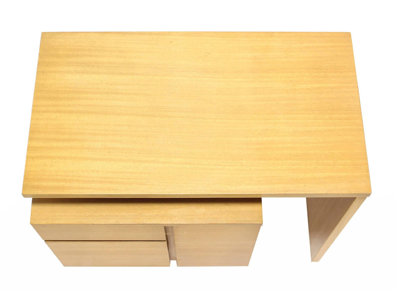 Satinwood Revolving Folding Mid-Century Modern Desk Writing Table Cabinet Hide Away For Sale