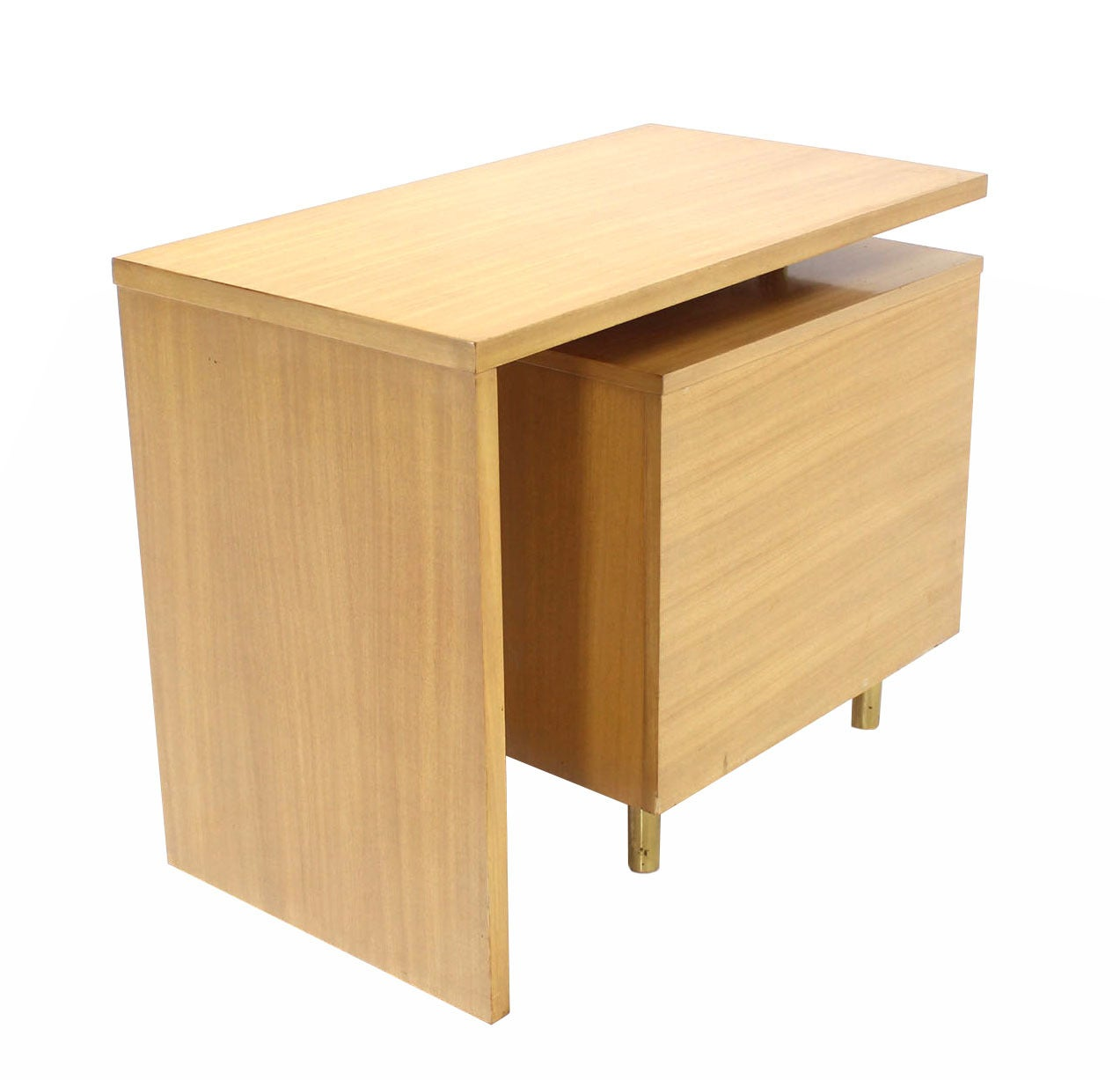 Revolving Folding Mid-Century Modern Desk Writing Table Cabinet Hide Away For Sale 1