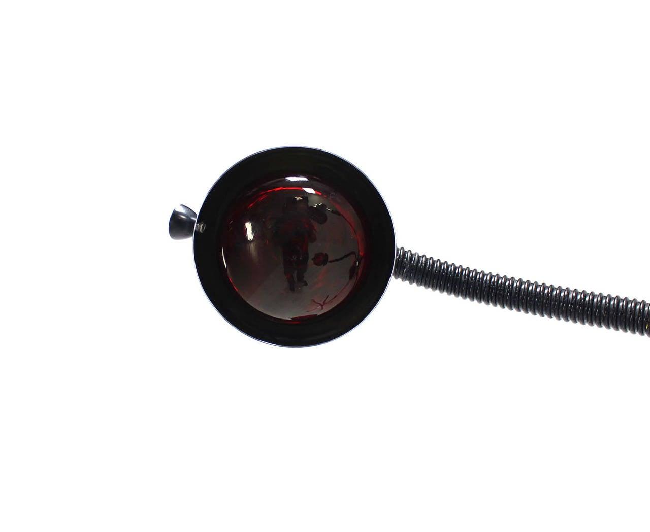 20th Century Chrome Wheel Base Mid-Century Modern Adjustable Four-Arm Lamp Heat Lamps For Sale
