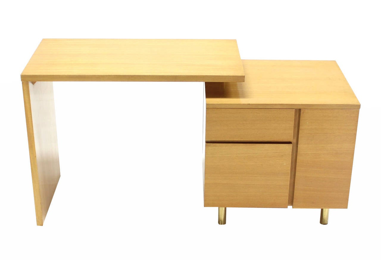 Lacquered Revolving Folding Mid-Century Modern Desk Writing Table Cabinet Hide Away For Sale