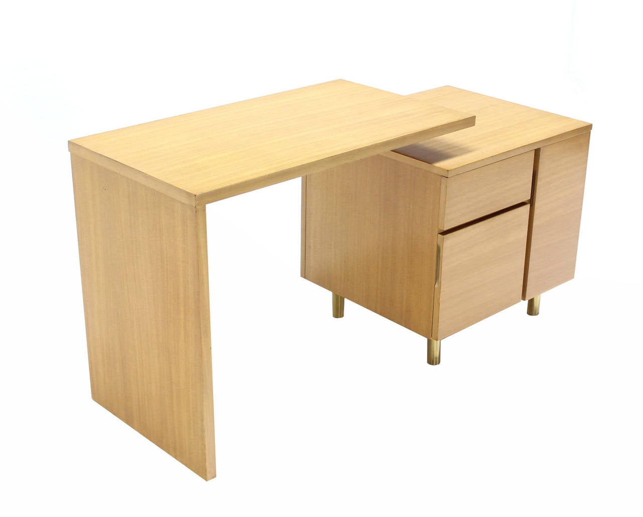 American Revolving Folding Mid-Century Modern Desk Writing Table Cabinet Hide Away For Sale