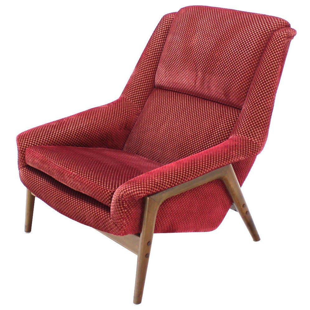 large danish mid century modern lounge chair at 1stdibs