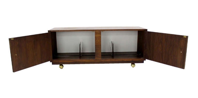 Mid Century Modern Oiled Walnut Petit Credenza Record Tv