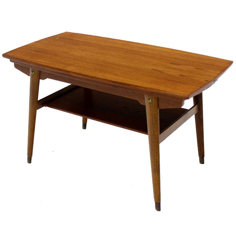 Danish Mid Century Modern 23 High Expanding Teak Coffee Table At 1stdibs